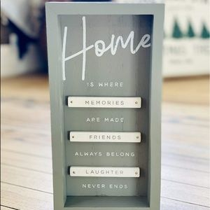 HOME IS WHERE MEMORIES ARE MADE BOX SIGN